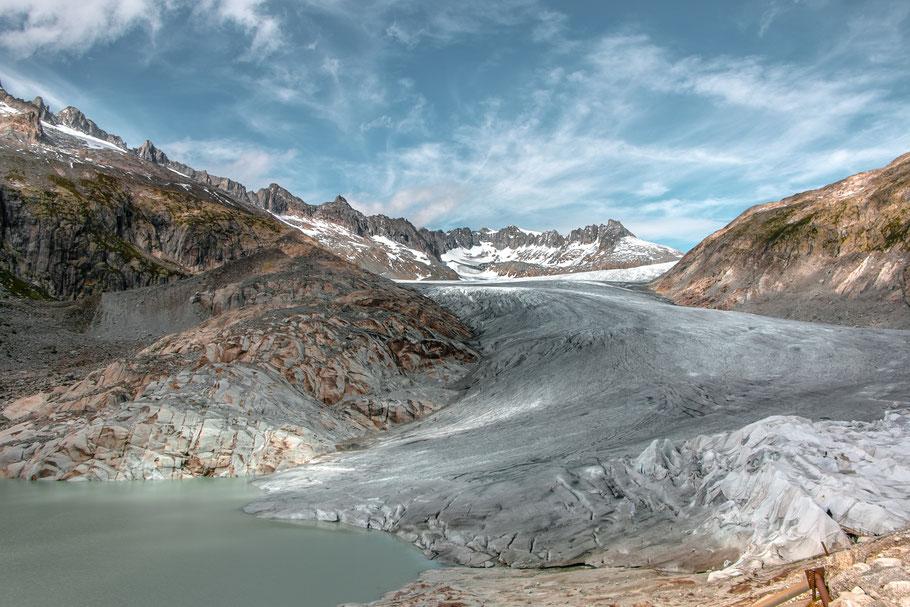Rhonegletscher-Gletscher-Schweiz-Grimselpass-Furkapass-Roadtrip-Wandern