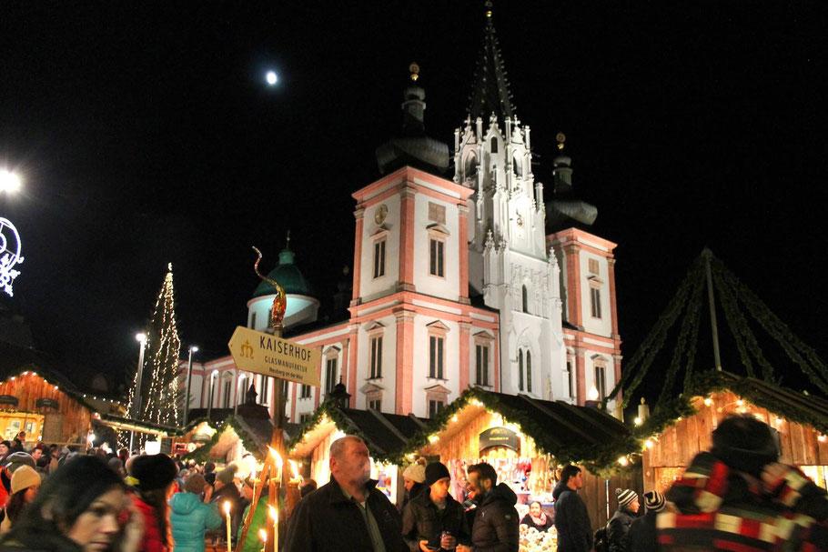 Advent in Mariazell, Christkindlmarkt Basilika, Attraktionen Mariazell, Ausflugsziele,