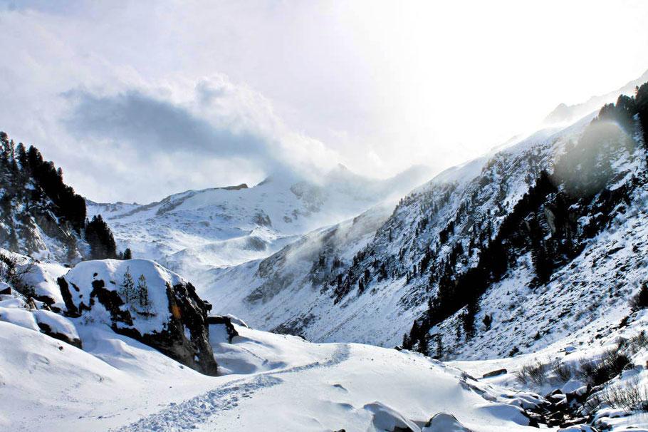 Wandern im Zillertal, Winterwandern, Wintersport, Wildgerlostal