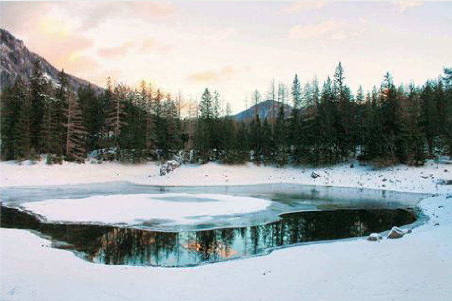 Grüner See Tragöss Wandern im Winter