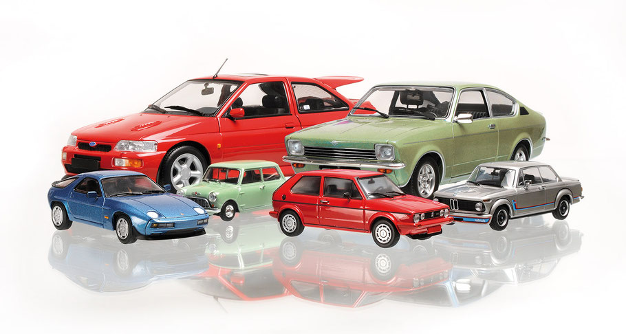 Maxichamps Modellfahrzeuge, model cars, Scale 1:43, Scale 1:18, Porsche, Opel, BMW