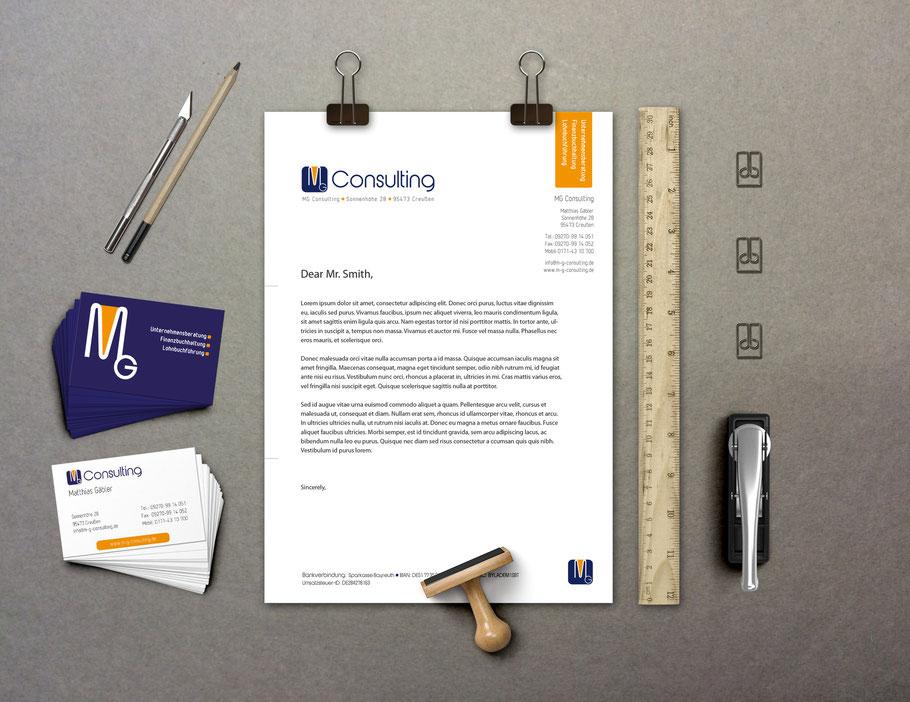 Corporate Design Visitenkarten und Briefbogen