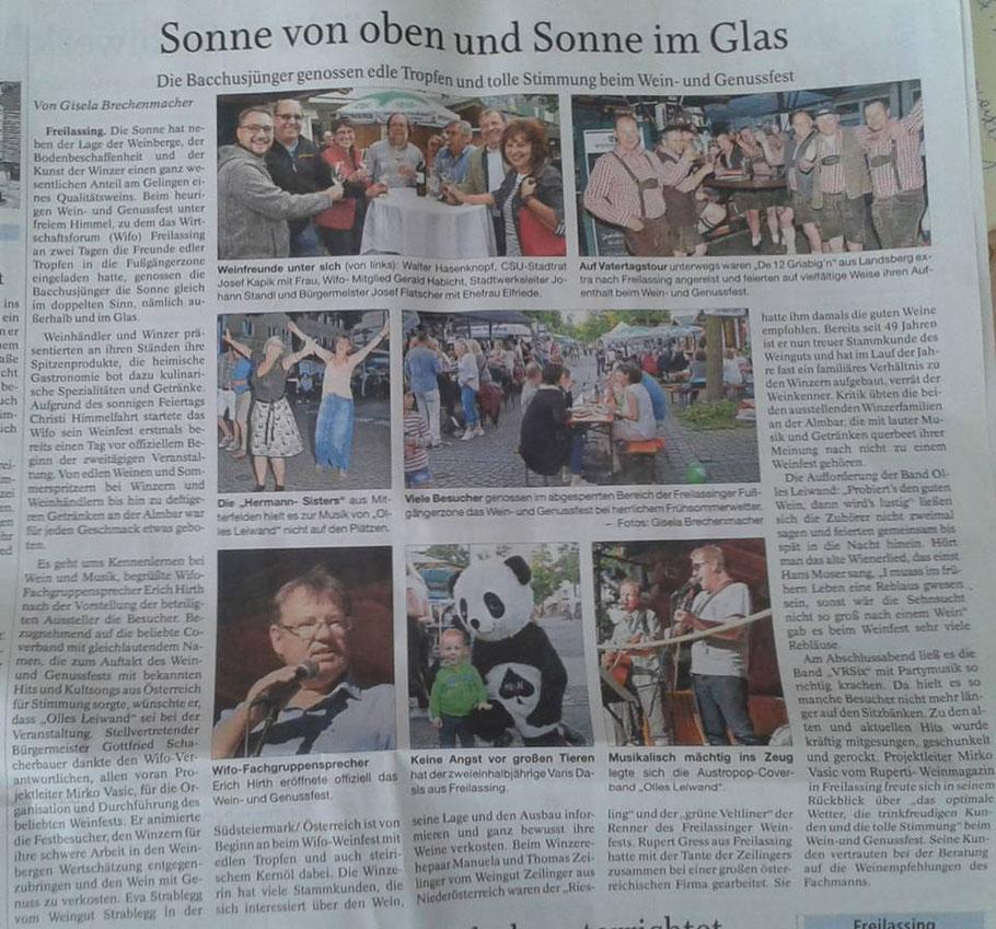 Olles Leiwand am Freilassinger Weinfest. Die Band für Austropop und Partymusik von Ambros, Danzer, Fendrich & co.