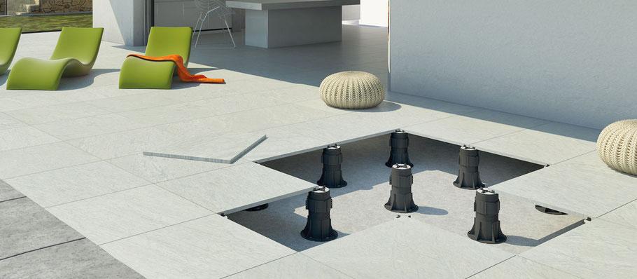 stelzlager f r terrassenplatten online kaufen stelzlager plattenlager onlineshop. Black Bedroom Furniture Sets. Home Design Ideas