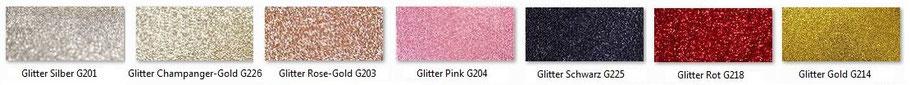 Farbpalette Glitterkarton, 250g/m²