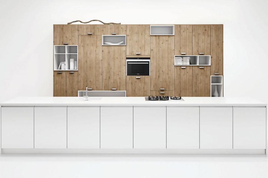 Eine Küche muss ja nicht auf den ersten Blick wie eine Küche daher kommen, finden wir ...