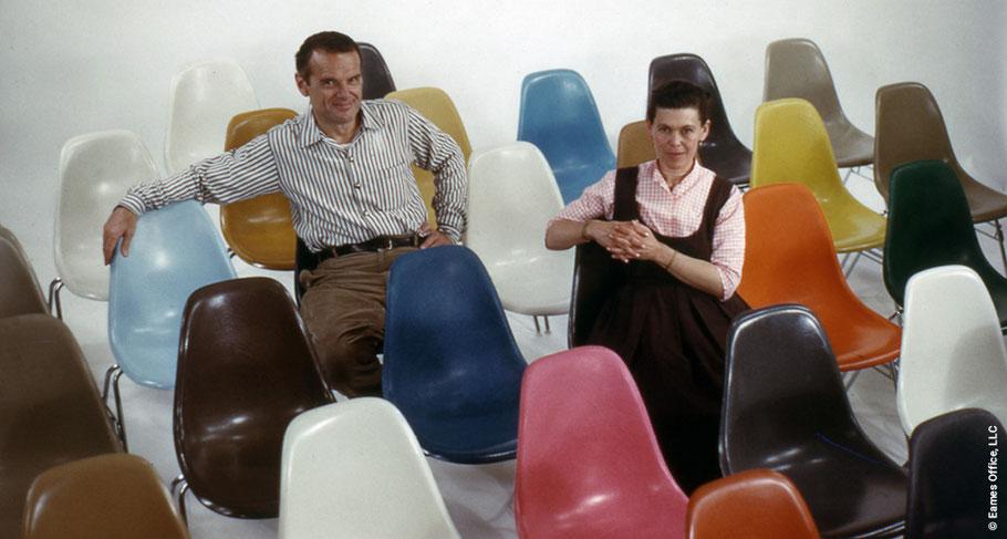 Design-Ikonen Charles und Ray Eames. Sie haben eine Welt um sich herum gebaut, waren sehr einflussreich und hervorragend vernetzt. (Foto: Eames Office LLC)