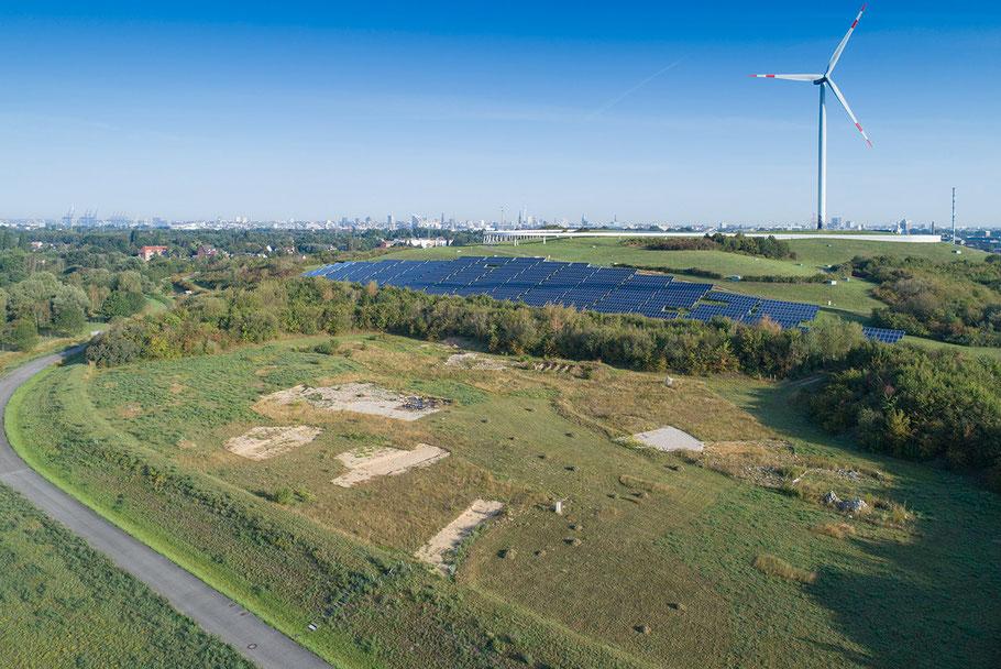 Luftaufnahme der 1,6 ha großen,  vom Neuntöter e. V. betreuten Entwicklungsfläche auf dem Energieberg