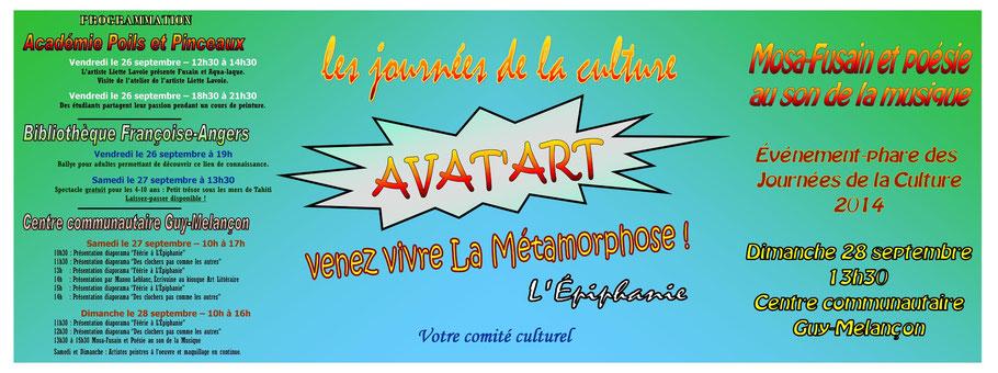 Programmation des Journées de la Culture 2014