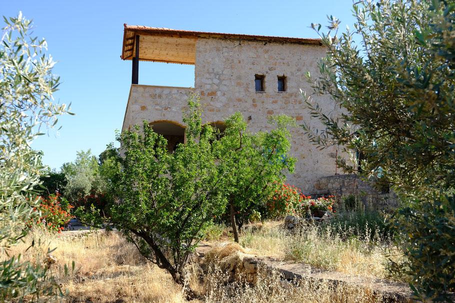 Das Wohnhaus auf der Olivenfarm