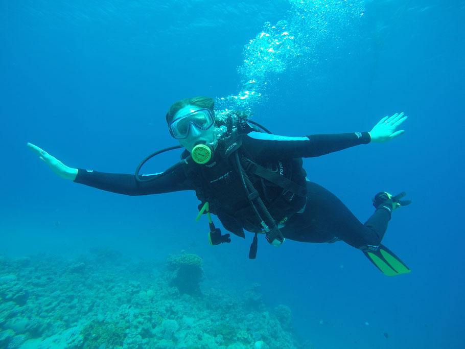 Schwerelos in 10 Meter Tiefe