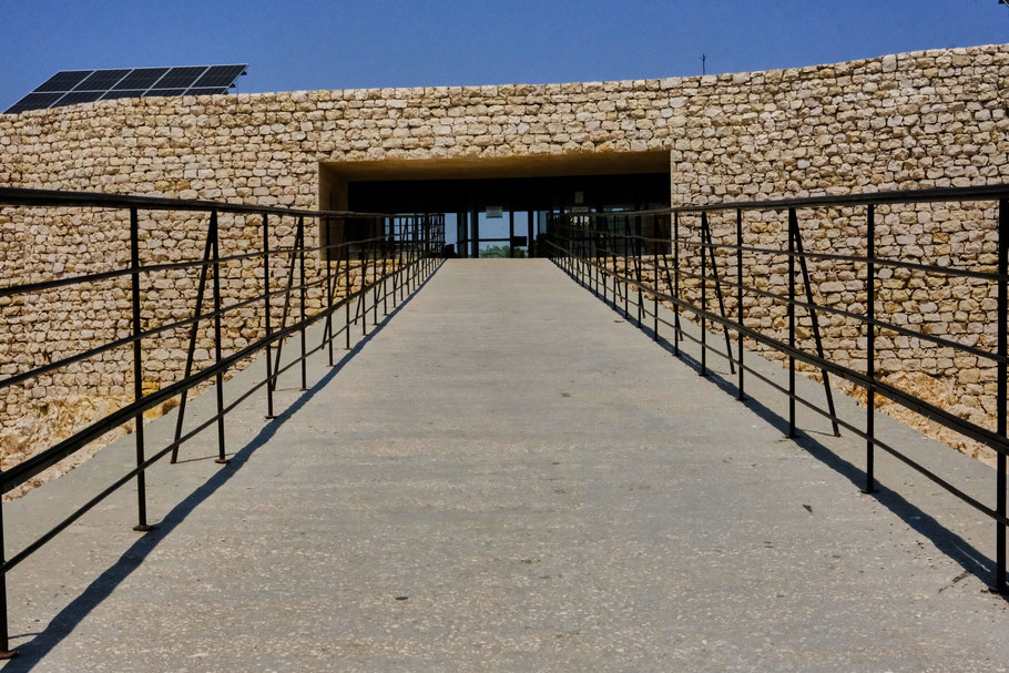 Das Besucherzentrum in Ajloun
