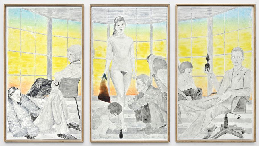 Monotypie, 252 x 423 cm (3-teilig), 2017