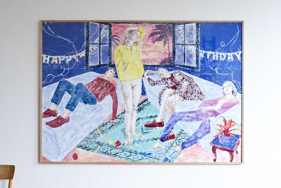 monotype Painting Art Figurative Colours Kunst Monotypie Malerei Figurativ Gegenständlich Farbig Potsdam Kunstraum Marion Fink