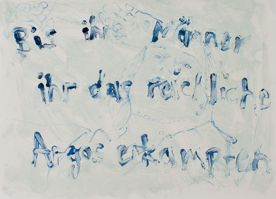 Monotypie, Ölfarbe auf Papier, 70 x 50 cm, 2016