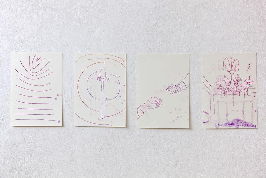 Monotypie, Ölfarbe auf Papier, 4 x 29,7 x 42 cm, 2016