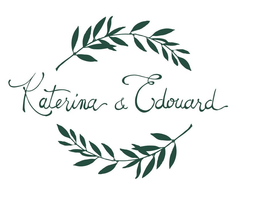 faire-part mariage, illustré, illustration, personnalisé, à la main, calligraphie, logo