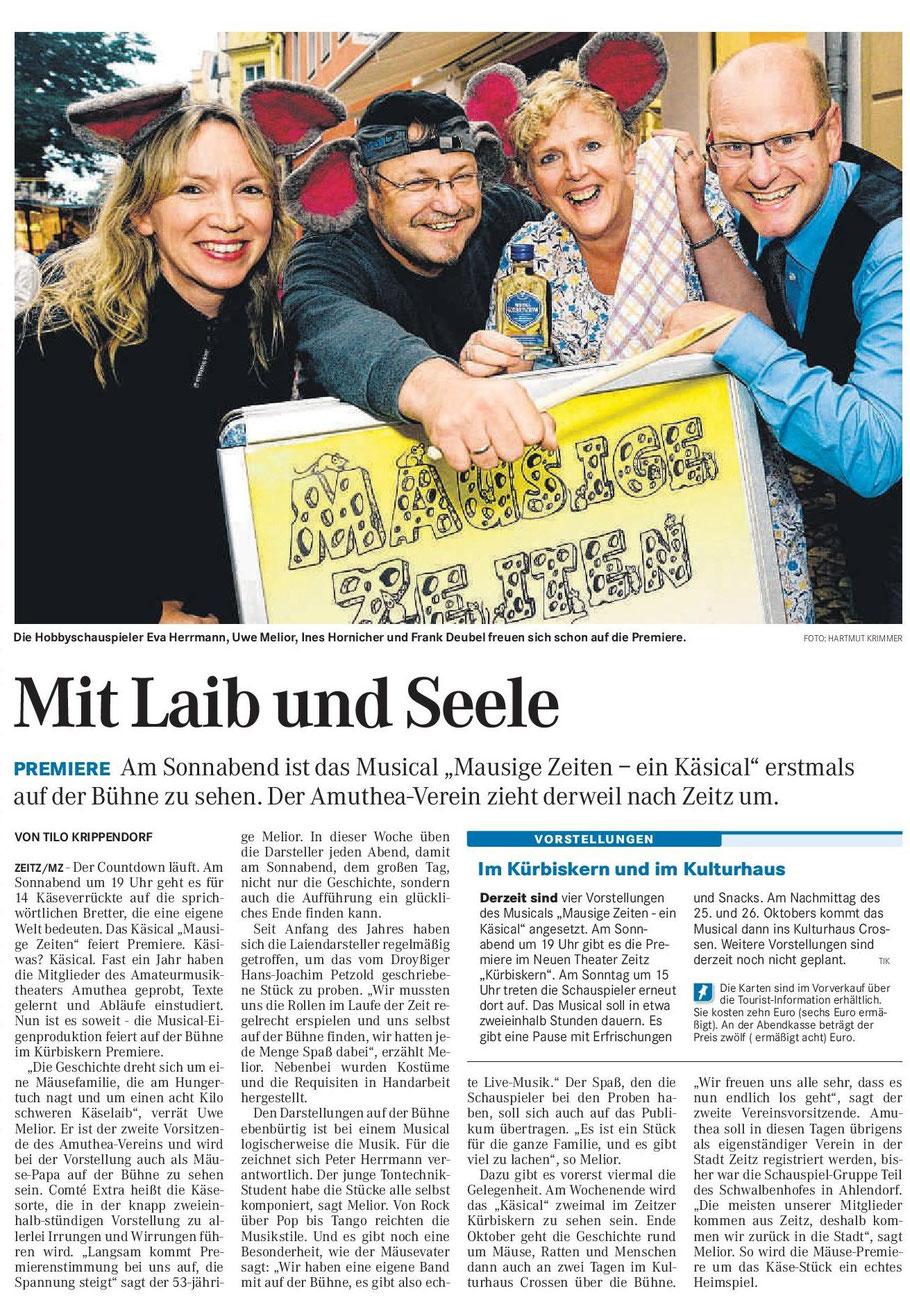 Mitteldeutsche Zeitung 07.10.2014