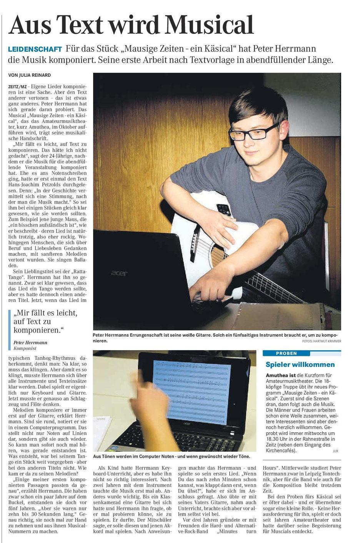 Mitteldeutsche Zeitung 05.02.2014