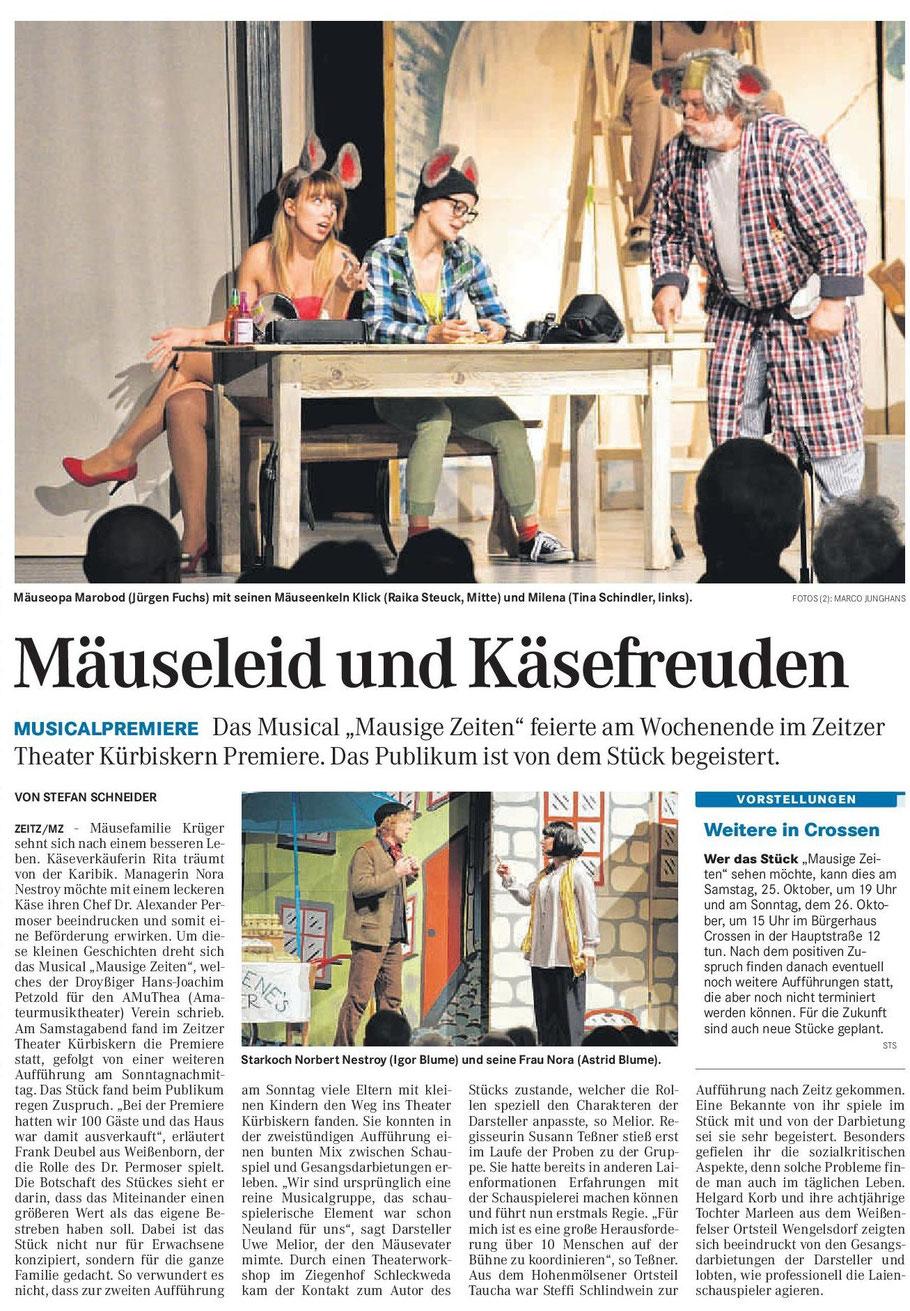 Mitteldeutsche Zeitung 14.10.2014