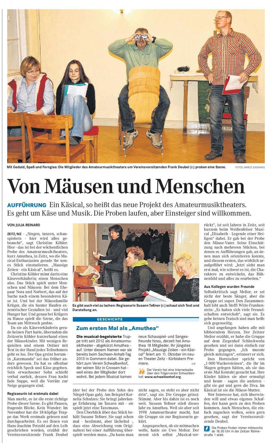 Mitteldeutsche Zeitung 17.01.2014