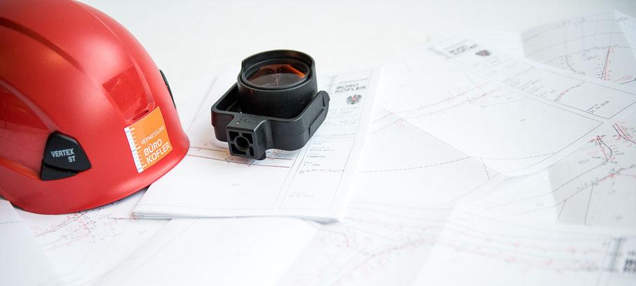 Foto Helm Karte Planungsmaterial - Vermessung Büro Kofler