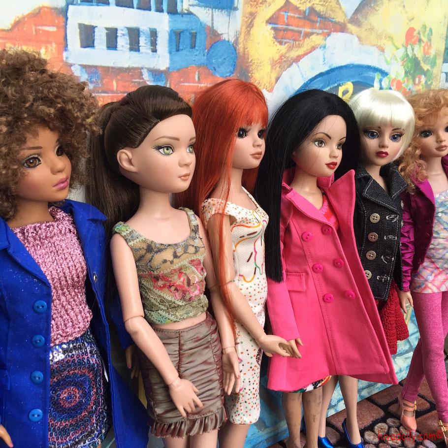 """Ellowyne Wilde 16"""" Fashion Dolls, Ellowyne Amber, Ellowyne Prudence, Ellowyne Lizette, in Tonner doll fashions, eBay and Etsy doll clothes"""