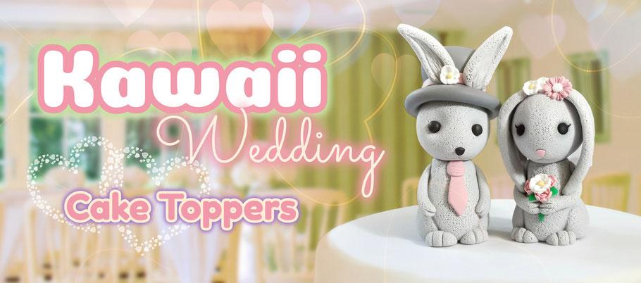 Kawaii Wedding Cake Toppers