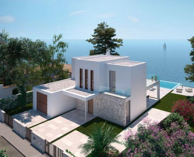 Ferienhaus schlüsselfertig mit Meerblick in Cala Pi auf Mallorca
