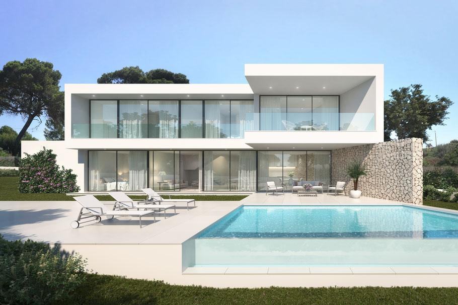 Villa Mallorca in erster Meereslinie in Cala Pi