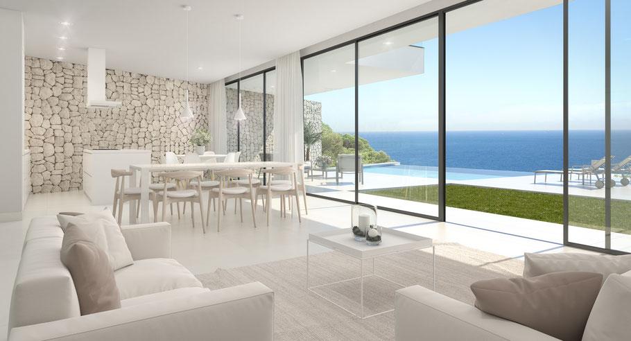 Ferienhaus in Cala Pi mit Traumblick aufs Meer