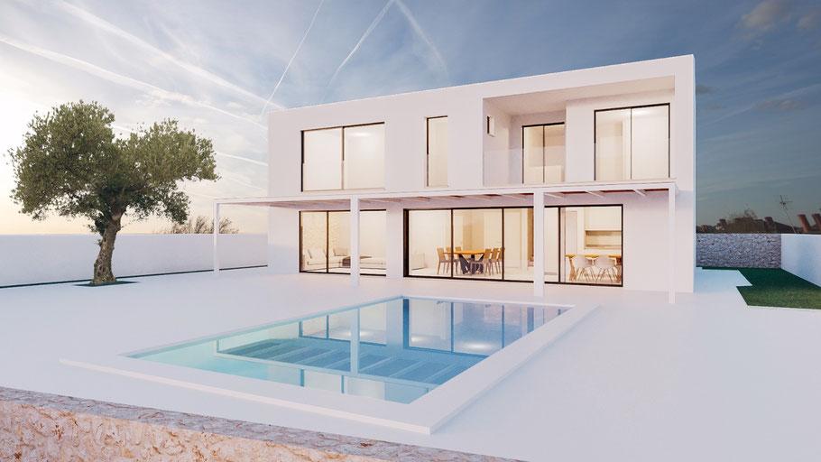 Bauland Mallorca und selber bauen. Verwirklichen Sie sich Ihren Traum auf einem voll entwickelten Bauland mit Meerblick in Cala Pi auf Mallorca.
