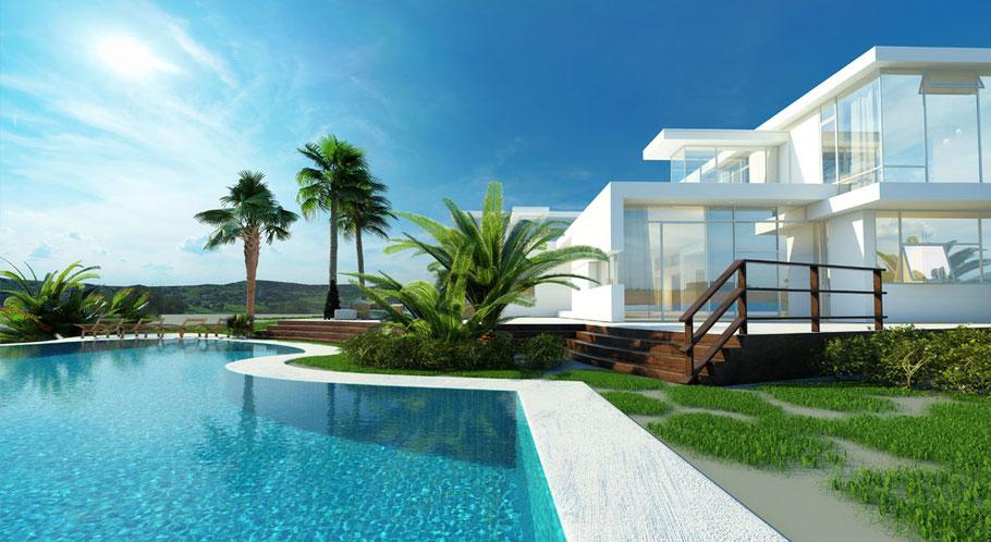 Luxusvilla mit Grundstück