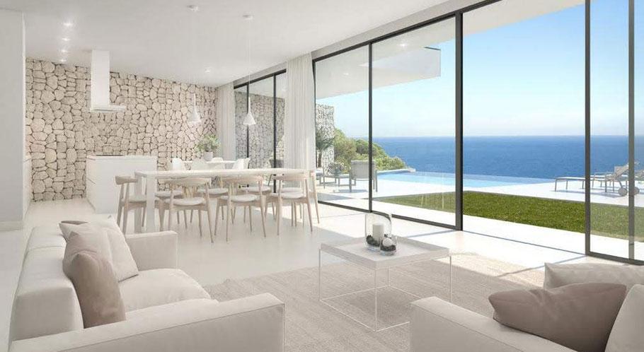 als Ihr Partner auf Mallorca liefern wir schlüsselfertige Immobilien mit Meerblick