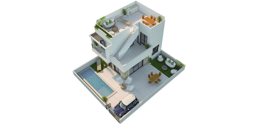 planos de venta 2D / 3D