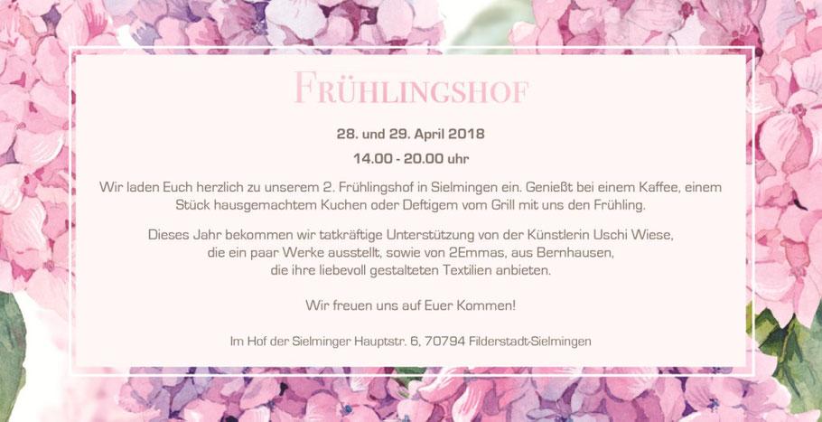 Frühlingshof in Filderstadt-Sielmingen mit Nada's Cafébar, Uschi Wiese und 2Emmas