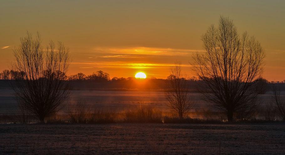 Sonnenaufgang in der Jeetzelniederung bei Hitzacker