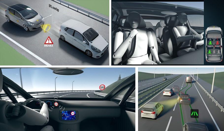 Sistemas de seguridad evaluados. Euro NCAP