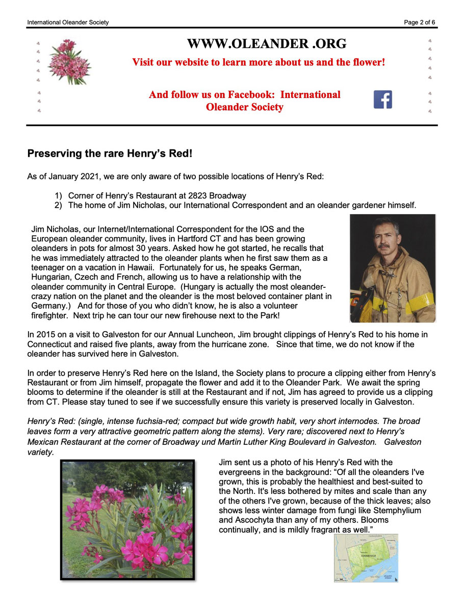 International Oleander Society, Nerium News, Oleander Haus