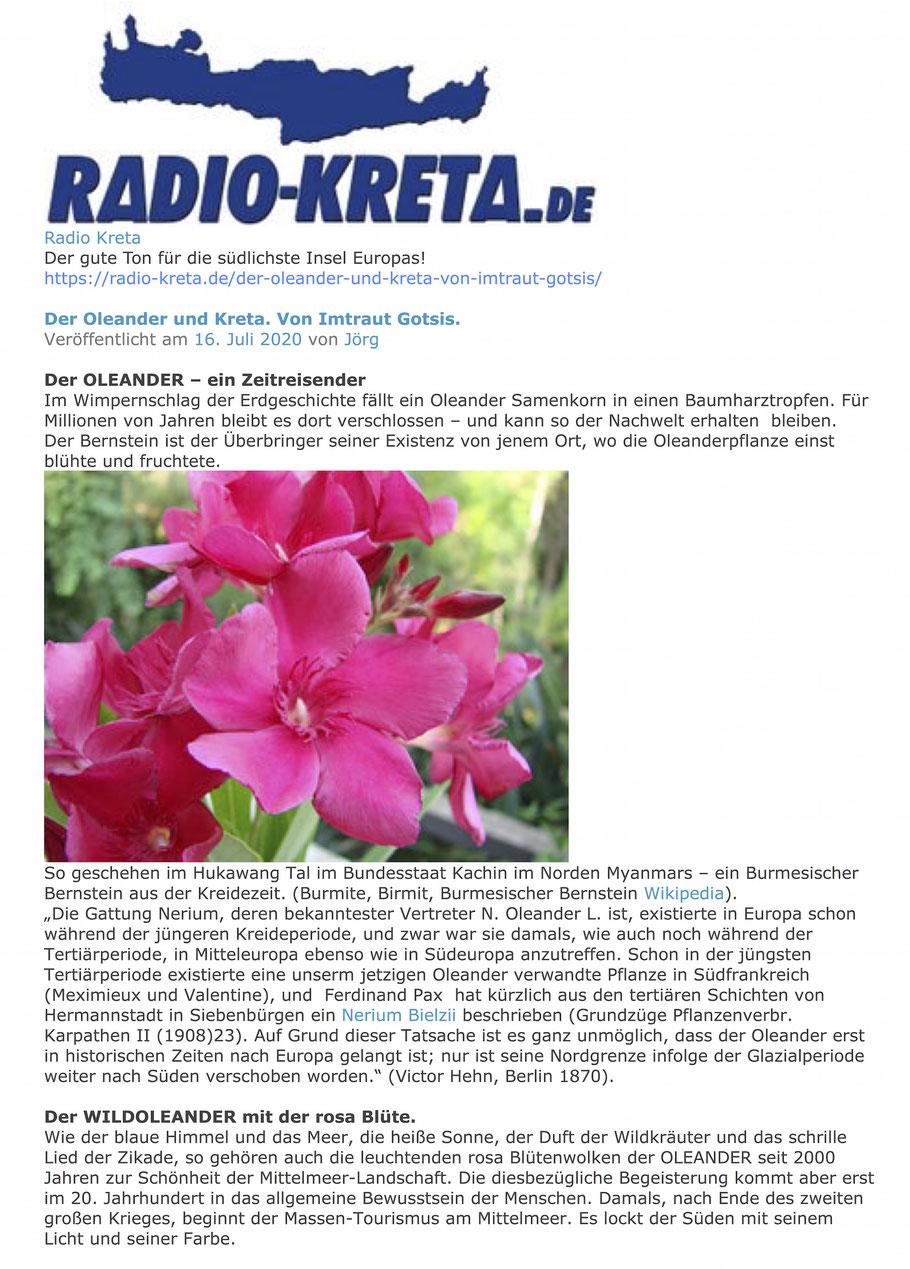 Oleander - Radio Kreta