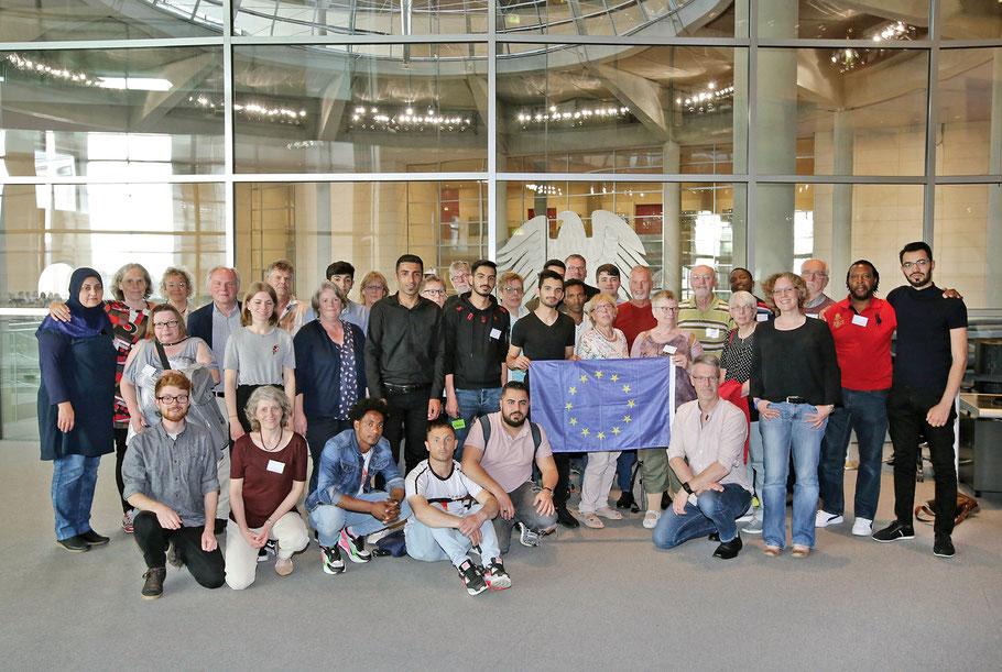 Berlinfahrt von Cadenbergehilft + ev. Kirche Cadenberge - 20.-22.5.2019 - Flüchtlinge + Pat*innen auf Einladung von Dr. Julia Verlinden - Bündnis 90/Die Grünen
