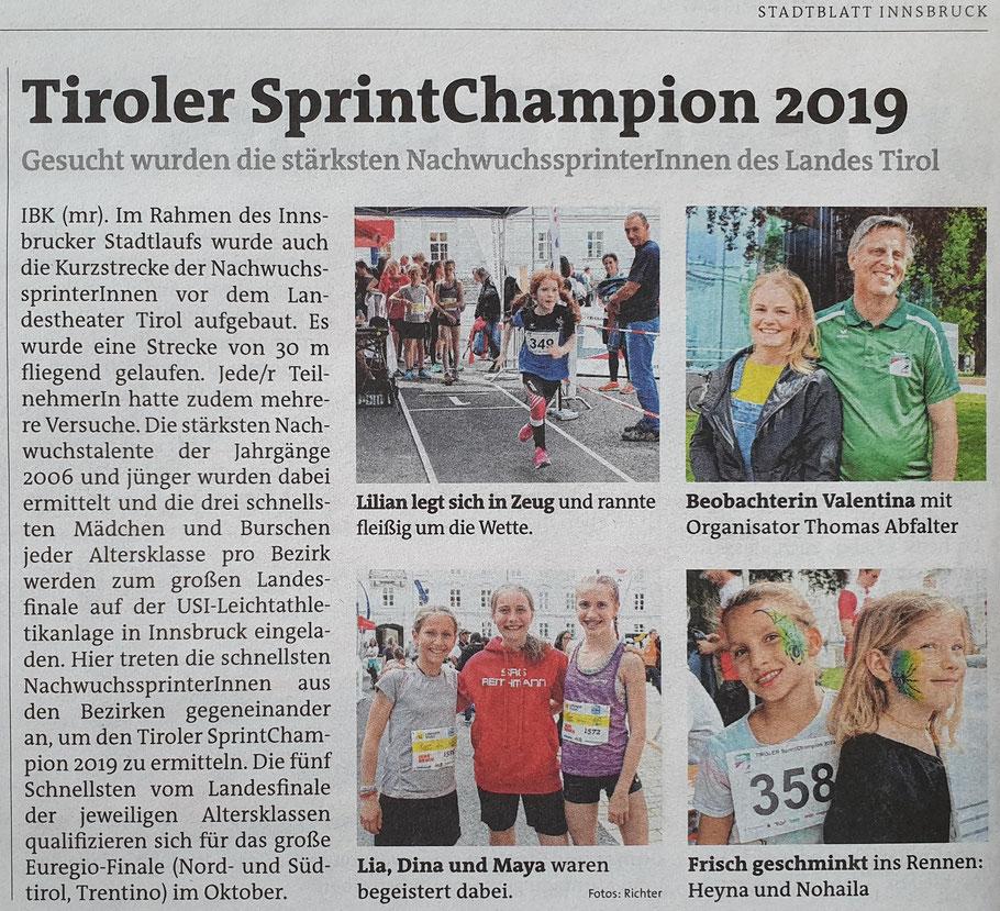 Quelle: Stadt Blatt, Innsbruck Ausgabe 21 22. Mai 2019