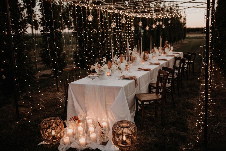 Lichterketten Lichtervorhang mieten für Eure Hochzeit
