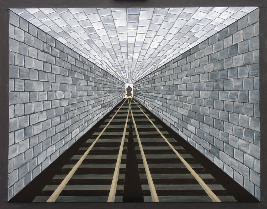 3 D-Konstruktion Zweigleisiger Tunnel ( 75x95x35 )