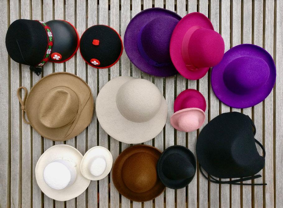 Hüte für Puppen, Marionetten und Figuren