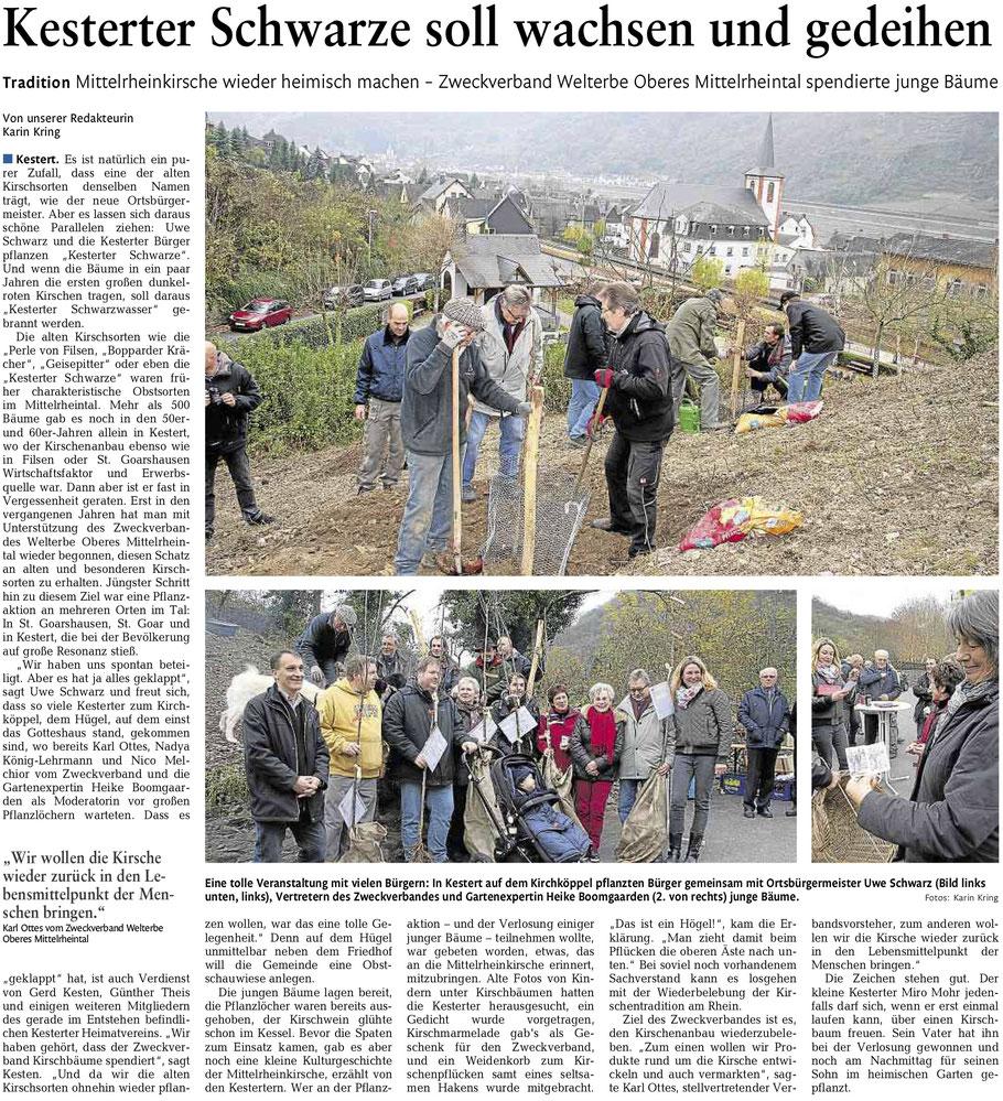 Bericht aus der Rhein-Zeitung vom 01.12.2014