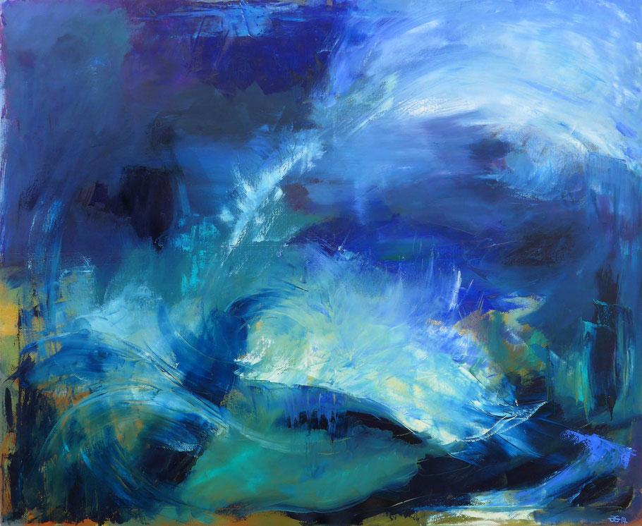 Blau, 2014, Öl auf Leinwand, 120 x 100 cm