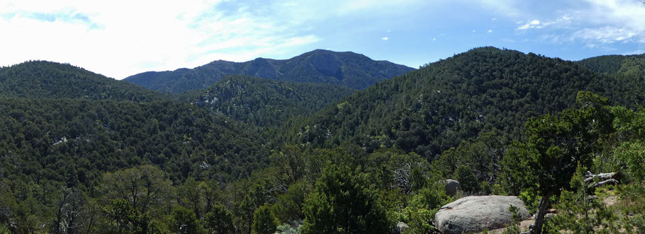 South Sandia Peak, Sandia Mountains, Embudito Trail, Cibola National Forest, New Mexico