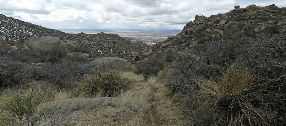 Mano Trail, Sandia Mountains, Cibola National Forest, Albuquerque, New Mexico.
