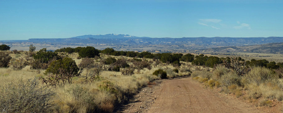 The first part of the hike, with the Rio Puerco Valley in the background and Mount Taylor 38 miles away